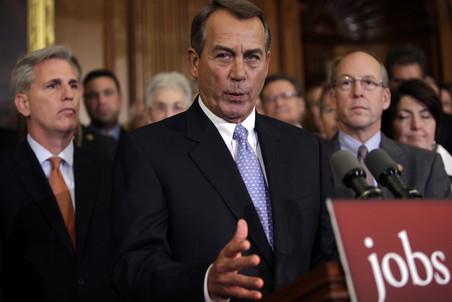 Джон Бейнер, спикер палаты представителей, заблокировавшей законопроект о продлении льгот по налогу...