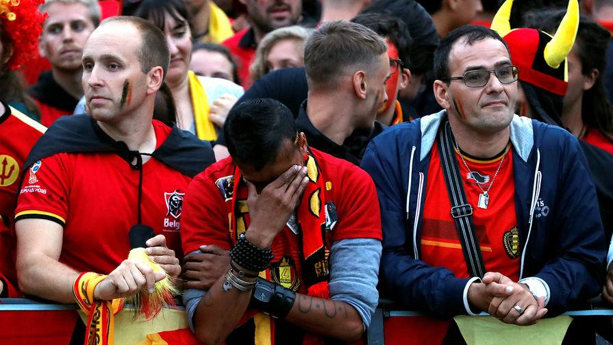 Бельгийские фанаты устроили погромы вБрюсселе после проигрыша сборной наЧМ