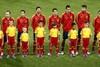 Сборная Испании на традиционном построении перед матчем