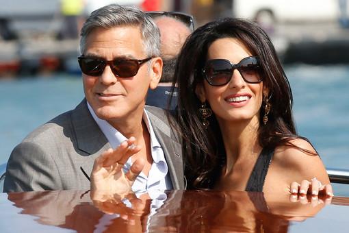 Джордж Клуни со своей невестой Амаль Аламуддин