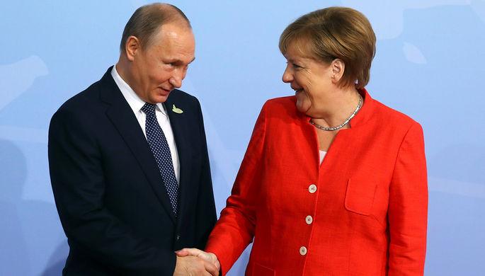 Путин сказал Меркель опровокациях столицы Украины вДонбассе