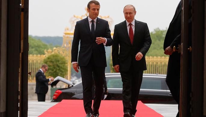 Макрон рассчитывает напомощьРФ врешении вопросов наБлижнем Востоке