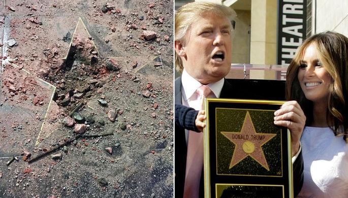 Власти Голливуда попросят убрать сАллеи славы звезду Дональда Трампа