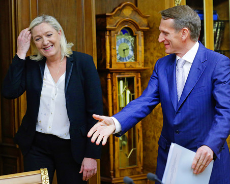 Спикер Госдумы Сергей Нарышкин встретился с лидером французских националистов