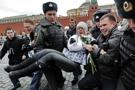 Green opposition activist Chirikova arrested in Red Square &mdash; Gazeta.Ru 