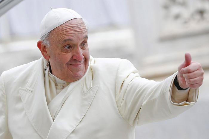 Белый Lamborghini папы римского ушел смолотка за715тыс.евро