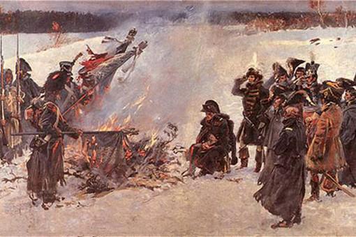 Картина «Сожжение знамен перед Наполеоном»