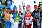 Женская сборная России завоевала серебряные медали по итогам эстафетной гонки