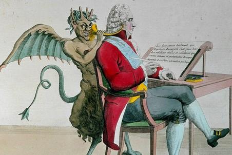 Талейран на Венском конгрессе. Французская современная карикатура