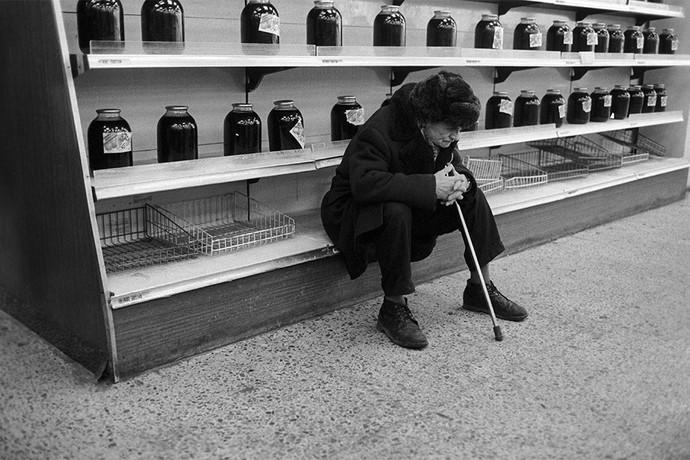 Дефицит продовольственных продуктов в Москве, 1991 год. Фото: Николай Мошков/ТАСС