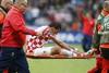 Марио Манджукич покинул поле из-за травмы