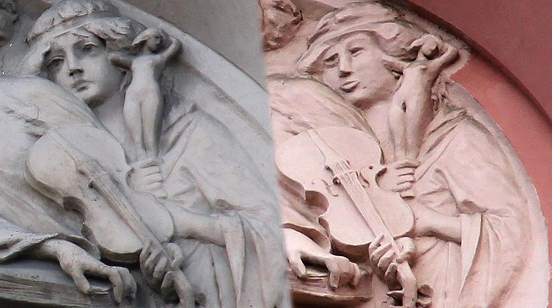 Реставрация изуродованного барельефа - нет слов - Яплакалъ.