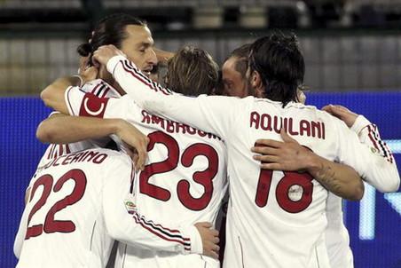 «Милан» выиграл на Сардинии и возглавил турнирную таблицу