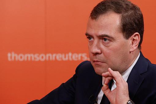 Премьер-министр Дмитрий Медведев дал интервью агенству Reuters