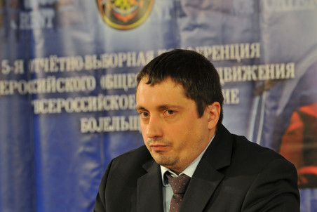 Президент Всероссийского объединения болельщиков Александр Шпрыгин