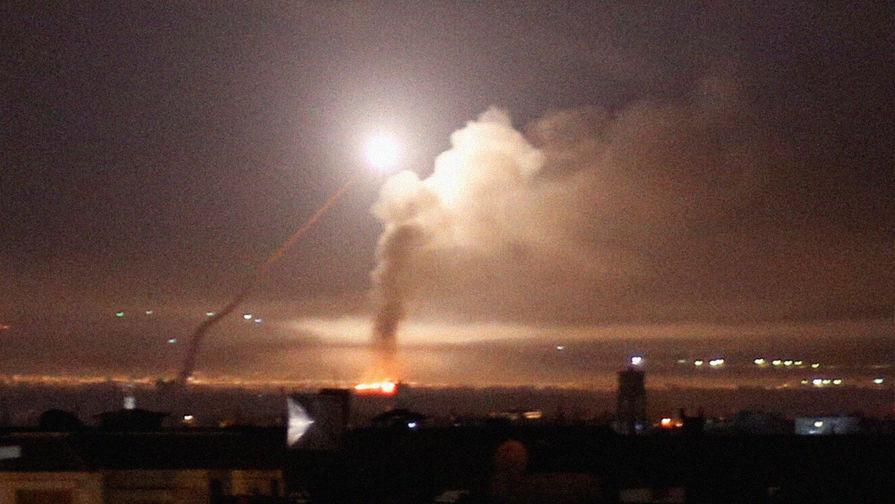 Появилось видео отражения сирийской ПВО удара по Дамаску