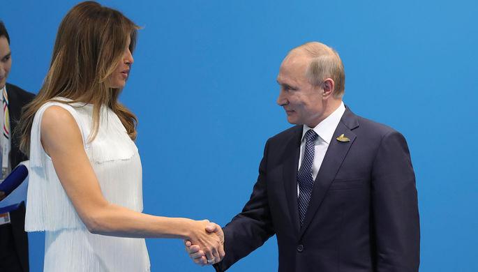 Путин поведал, очем говорил спервой леди США