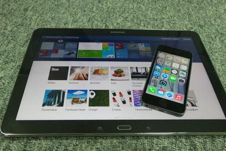 Samsung Galaxy Note Pro 12.2 и iPhone 5S