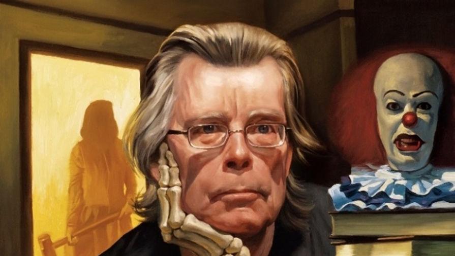Стивен Кинг. Иллюстрация Роберто Парада