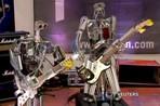 Выступление рок-группы роботов