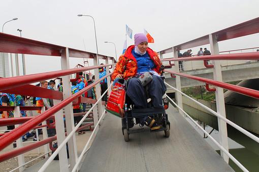 Пандус с вокзала в Олимпийском парке