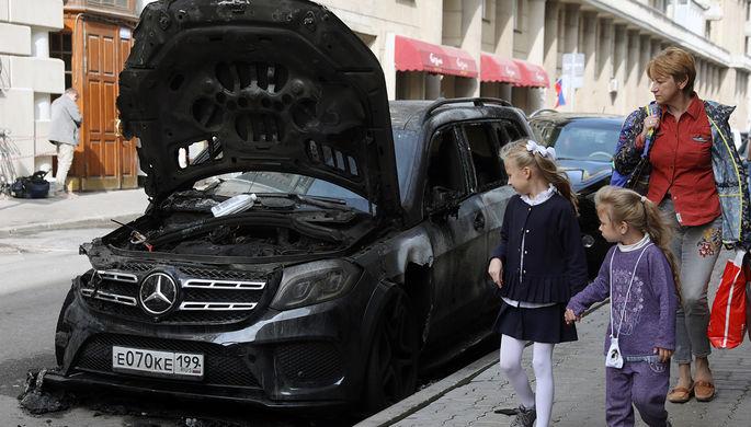 В российской столице  задержали 3-х  подозреваемых вподжоге машины юриста  Учителя