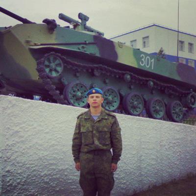 Валерий Лебедев сразу после присяги. Источник: vk.com.