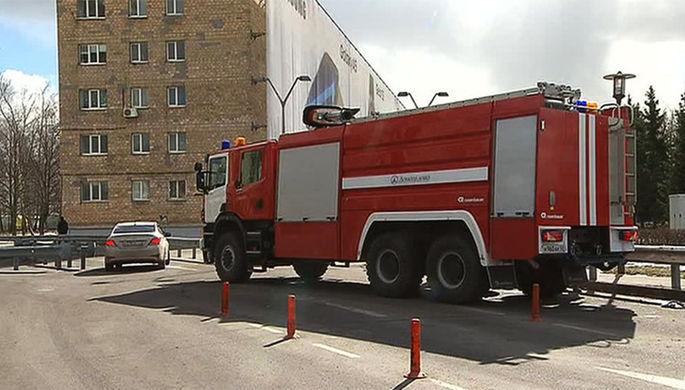 Пожар произошел вАкадемии ГенпрокуратурыРФ вцентре столицы