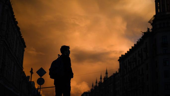 Желтый уровень опасности объявлен в российской столице из-за ветра идождя
