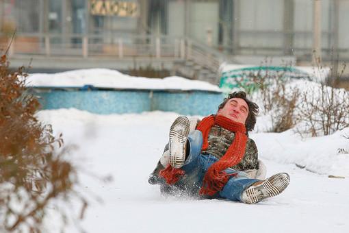 Зимой мы падаем чаще всего на улице
