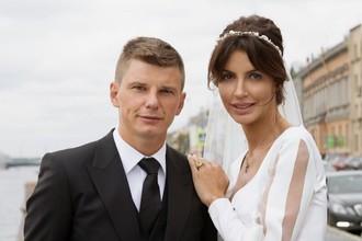 Футболист Андрей Аршавин со своей второй супругой Алисой Казьминой