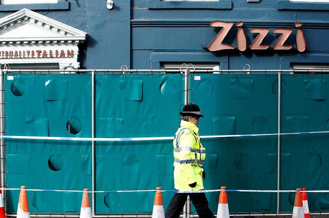 Ресторан «Zizzi», где ранее были обнаружены следы нервно-паралитического вещества, 11 марта 2018 года