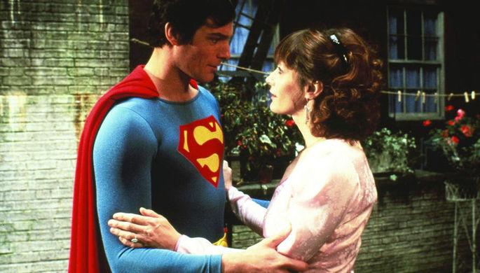 Кристофер Рив и Марго Киддер в сцене из фильма «Супермен»