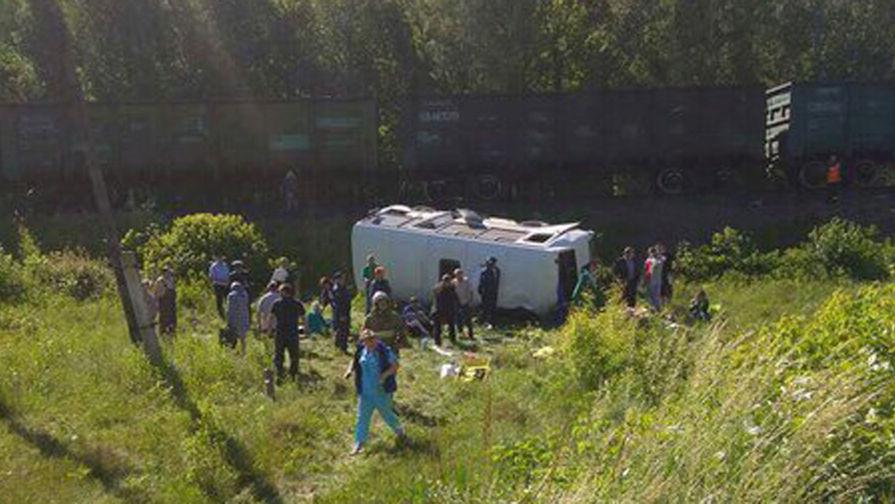 Опубликовано видео с места ДТП с грузовым поездом под Орлом