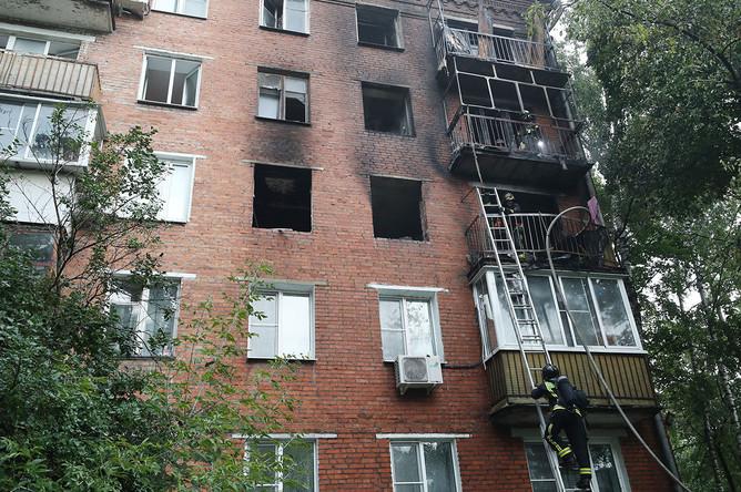 Жилой дом на улице Кубинка, где произошел взрыв газа, 26 августа 2020 года