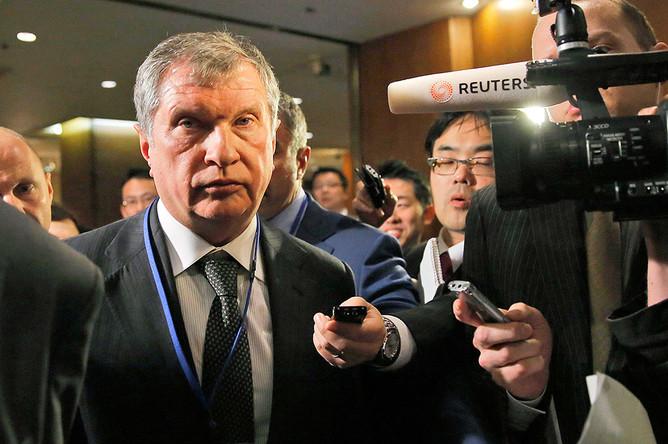 Глава «Роснефти» Игорь Сечин на российско-японском инвестфоруме в Токио