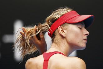 Мария Шарапова в матче третьего круга, похоже, даже не устала