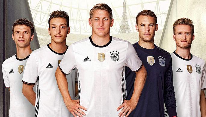 Форма немецкой футбольной команды