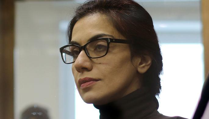 Экс-член правления «Интер РАО» Карина Цуркан, обвиняемая в шпионаже, во время оглашения приговора в Мосгорсуде, 29 декабря 2020 года