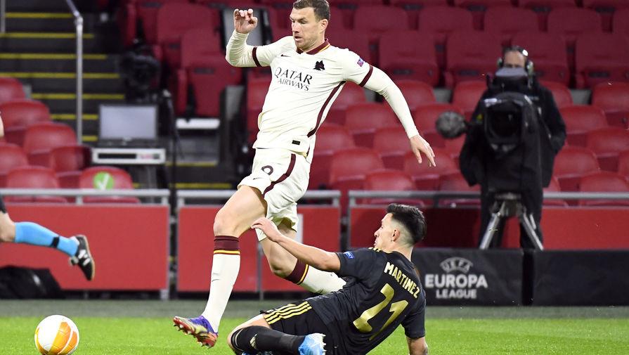 Ибаньес принес Роме победу над Аяксом в матче 1/4 финала Лиги Европы