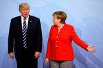 Президент США Дональд Трамп и канцлер Германии Ангела Меркель во время саммита G20 вГамбурге, июль 2017 года