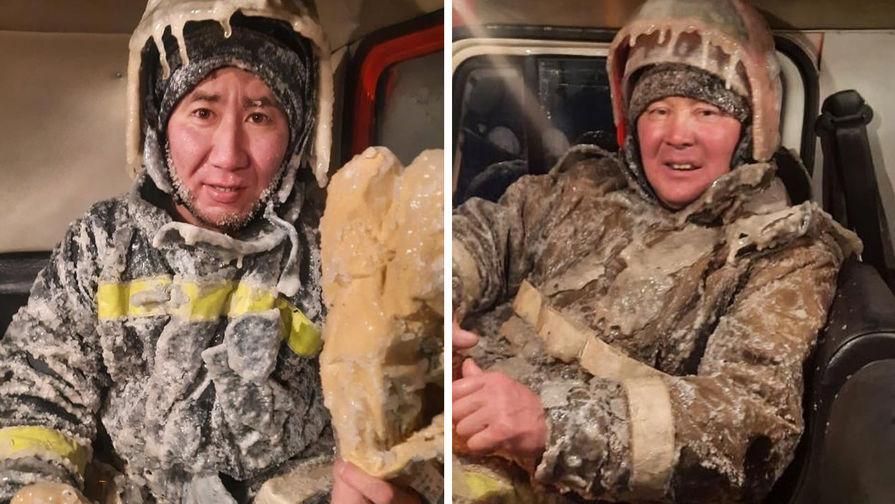 Работники Государственной противопожарной службы Якутии
