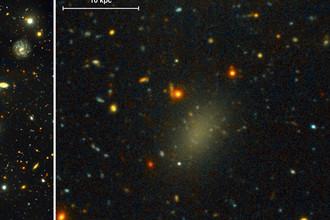 Галактика-призрак из темной материи