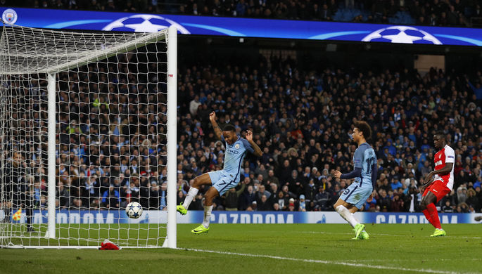 «Манчестер Сити» одержал волевую победу над «Монако» в первом матче 1/8 финала Лиги чемпионов