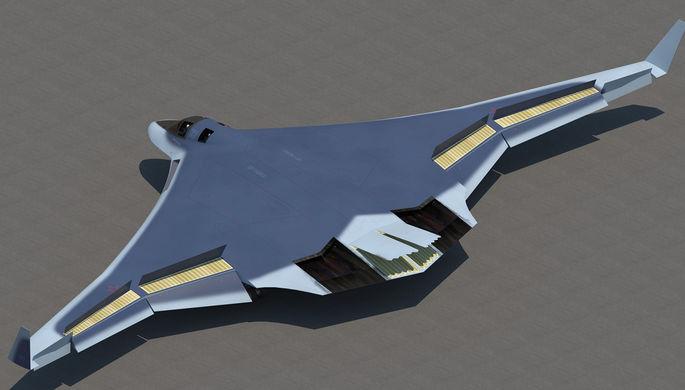 Перспективный авиационный комплекс дальней авиации (ПАК ДА), разрабатываемый для Воздушно-космических сил России
