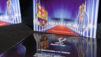Программка к матчу «Барселона» — «Порту»
