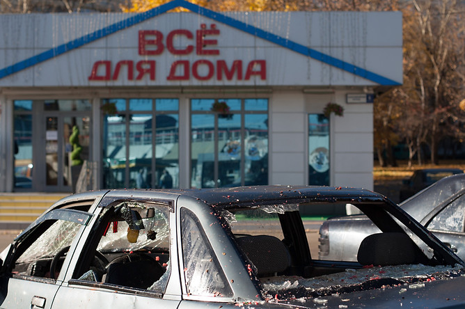 Забирать разбитые в ходе беспорядков машины около ж/д станции и ТЦ «Бирюза» никто пока не спишет