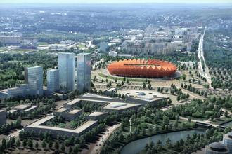 Так в проекте выглядел футбольный стадион «Юбилейный» в Саранске, который ныне построен лишь на 15%