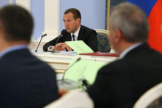 Председатель правительства России Дмитрий Медведев проводит в подмосковной резиденции «Горки» заседание правительственной комиссии по бюджетным проектировкам