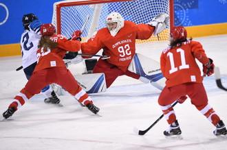 Женская сборная России по хоккею в матче за бронзу Олимпиады против Финляндии